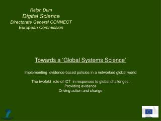 Towards a 'Global Systems Science '