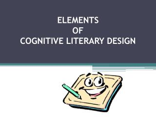 ELEMENTS  OF  COGNITIVE LITERARY DESIGN
