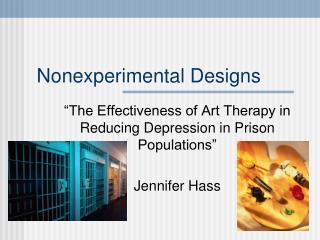 Nonexperimental Designs