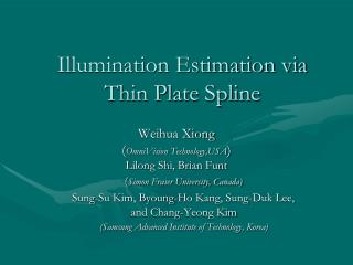 Illumination Estimation via Thin Plate Spline