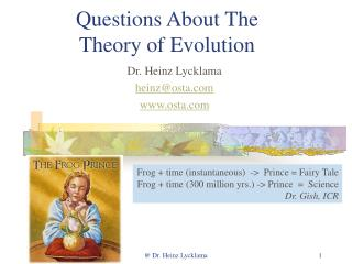 Questions About The Theory of Evolution