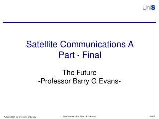 Satellite Communications A Part - Final