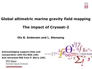 Global altimetric marine gravity field mapping The impact of Cryosat-2
