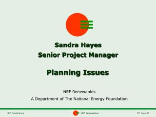 Sandra Hayes Senior Project Manager