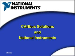 CANbus Solutions and National Instruments