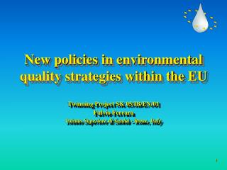 New policies in environmental quality strategies within the EU