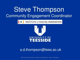 Steve Thompson Community Engagement Coordinator