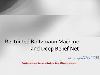 Restricted Boltzmann Machine and Deep Belief Net