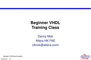 Beginner VHDL Training Class