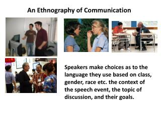 An Ethnography of Communication