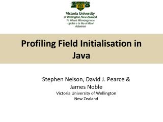 Profiling Field Initialisation in Java