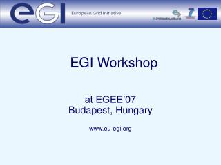 EGI Workshop