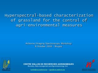 Hyperspectral-based characterization of grassland for the control of agri-environmental measures