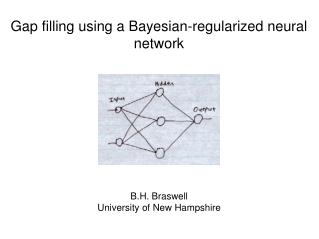Gap filling using a Bayesian-regularized neural network