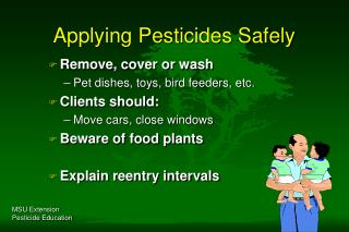 Applying Pesticides Safely