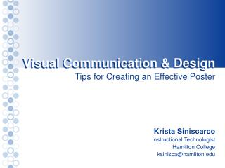 Visual Communication & Design