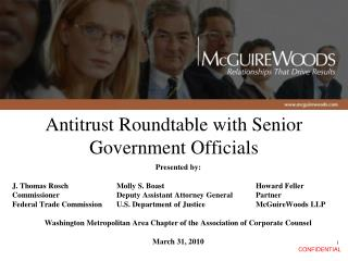 Antitrust Roundtable with Senior Government Officials