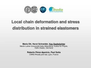 Local chain deformation and stress distribution in strained elastomers