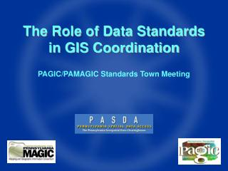 The Role of Data Standards in GIS Coordination