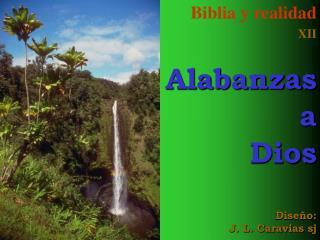 Biblia y realidad XII Alabanzas  a Dios Diseño: J. L. Caravias sj
