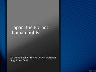 Japan, the EU, and human rights