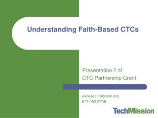 Understanding Faith-Based CTCs