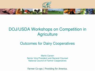 "DOJ/USDA ""Workshops"""