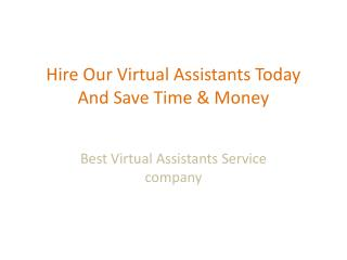 hire a virtual assistant | Best virtual assistants services