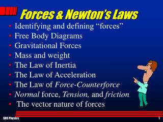 Forces & Newton's Laws