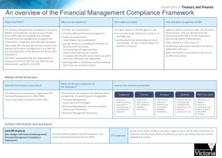An overview of the Financial Management Compliance Framework
