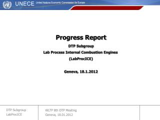 Progress Report DTP Subgroup Lab Process Internal Combustion Engines  (LabProcICE)