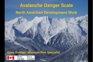 Avalanche Danger Scale North American Development Work