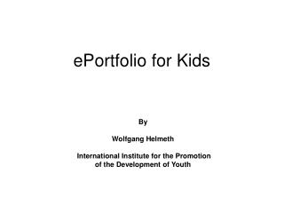 ePortfolio for Kids