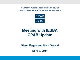 Meeting with IESBA CPAB Update