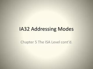 IA32 Addressing Modes