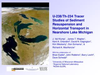 U-238/Th-234 Tracer Studies of Sediment Resuspension and Horizontal Transport in Nearshore Lake Michigan J. Val Klump 1