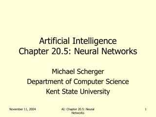 Artificial Intelligence Chapter 20.5: Neural Networks