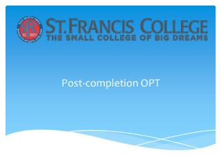 Post-completion OPT
