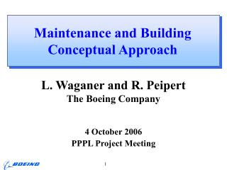 Maintenance and Building Conceptual Approach