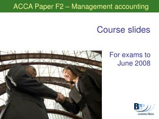 ACCA Paper F2 – Management accounting