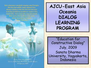 AJCU-East Asia Oceania DIALOG LEARNING PROGRAM