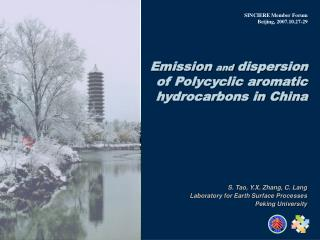 Emission  and dispersion of Polycyclic aromatic hydrocarbons in China