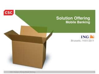 Solution Offering Mobile Banking