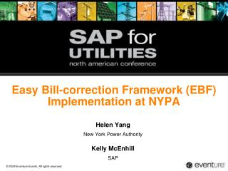 Easy Bill-correction Framework (EBF) Implementation at NYPA