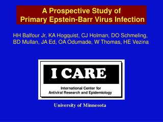 A Prospective Study of  Primary Epstein-Barr Virus Infection