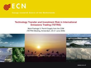 Technology Transfer and Investment Risk in International Emissions Trading (TETRIS)