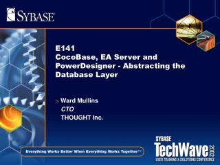 E141 CocoBase, EA Server and PowerDesigner - Abstracting the Database Layer