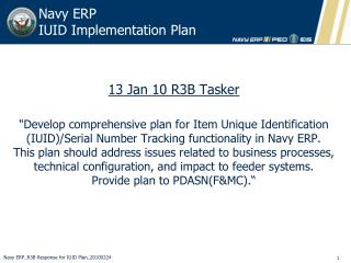 Navy ERP   IUID Implementation Plan