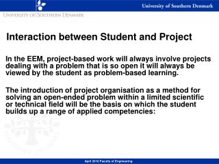 Interaction between Student and Project