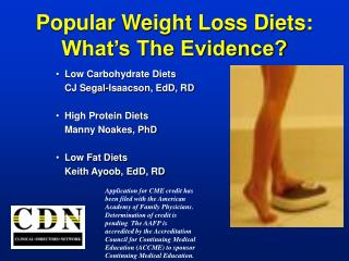 Popular Weight Loss Diets:  What's The Evidence?